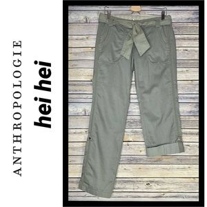 Just In! NWOT Anthro Hei Hei Roll Up Pant, Sz 4